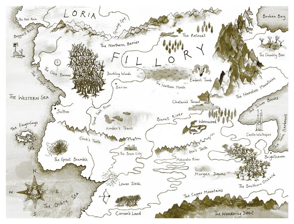 Map for Lev Grossman's novel, The Magicians