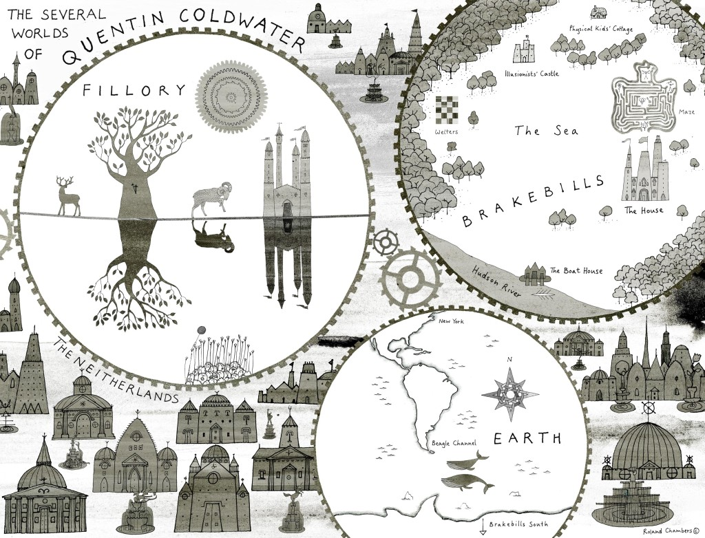 Map for Lev Grossman's novel, The Magician's Land